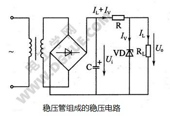 稳压管组成的稳压电路