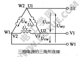 三相电源的三角形连接