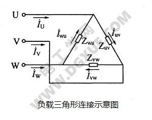 负载三角形连接示意图