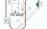 一只单联开关控制一盏灯并接一插座线路接线图